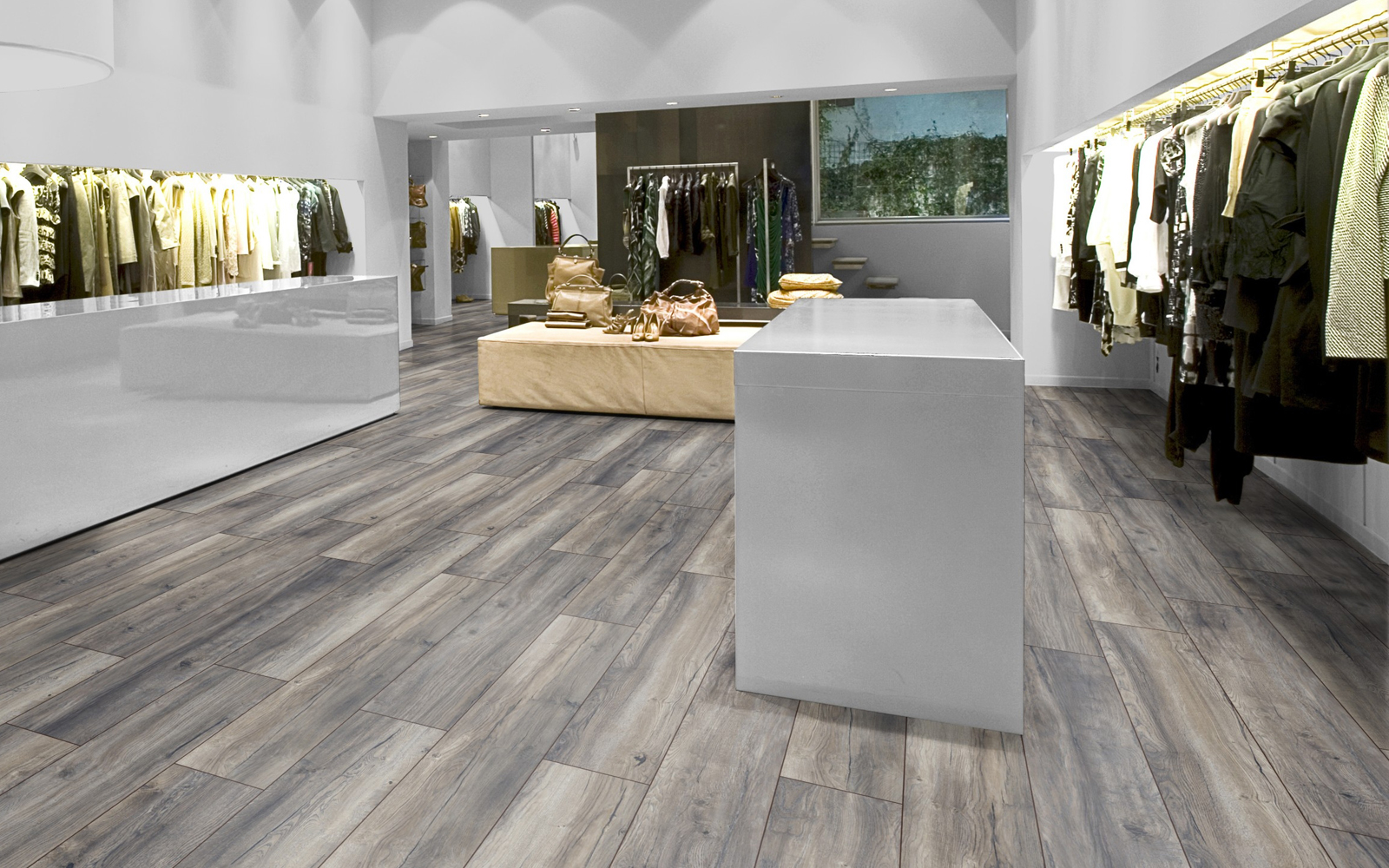 Harbour oak grey the floor gallery for Robusto laminate flooring